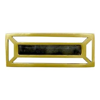 Addison Weeks McCoy Pull, Brass & Labradorite For Sale