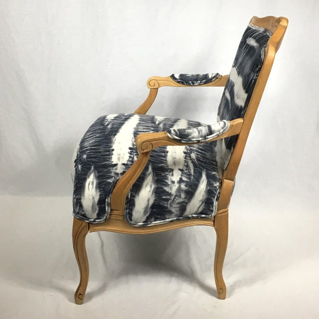 Hand Dyed Shibori Side Chair For Sale - Image 4 of 6