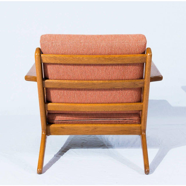 1950s Hans Wegner GE-290 Lounge Chair For Sale - Image 5 of 10