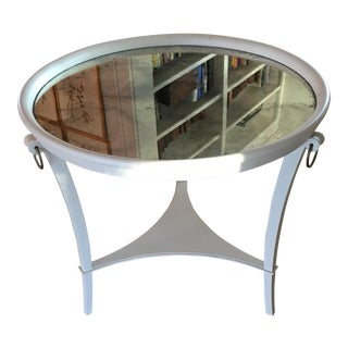 Vaughan Round Table With Mirror Top For Sale