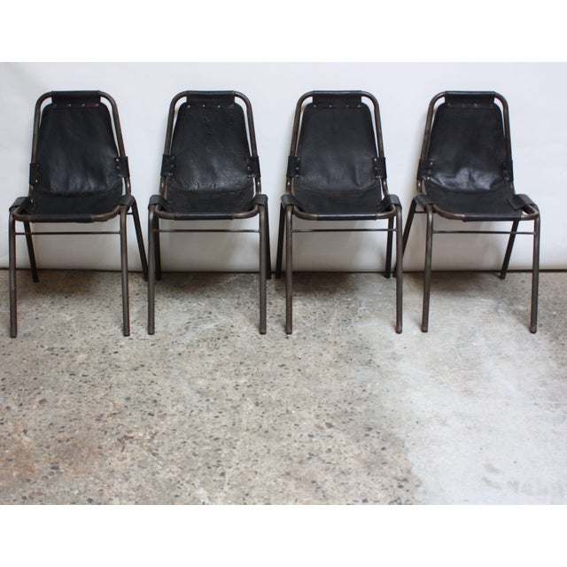 Early Set of Four 'Les Arcs' Chairs by Charlotte Perriand - Image 3 of 13