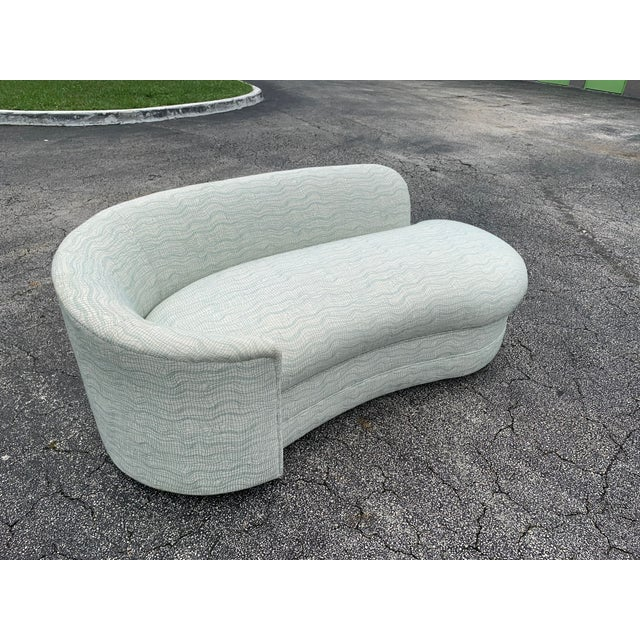 1970s Vladimir Kagan Style Petite Serpentine Cloid Sofa For Sale - Image 5 of 12