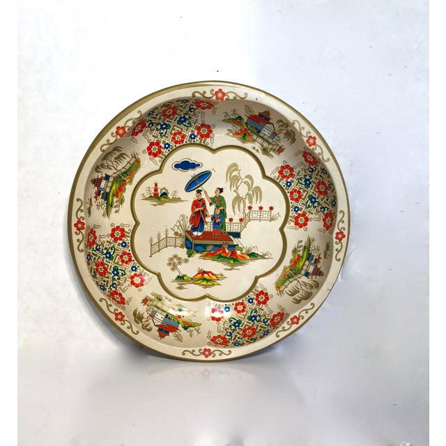 1971 Daher Painted Toleware Bowl For Sale - Image 6 of 6