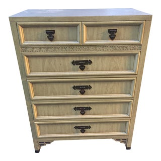 1970s Asian Modern Shangri La Tall Boy Chest of Drawers For Sale