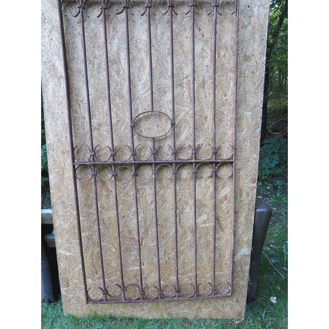 Victorian Antique Victorian Iron Gate Window Garden Fence Architectural Salvage Door For Sale - Image 3 of 11