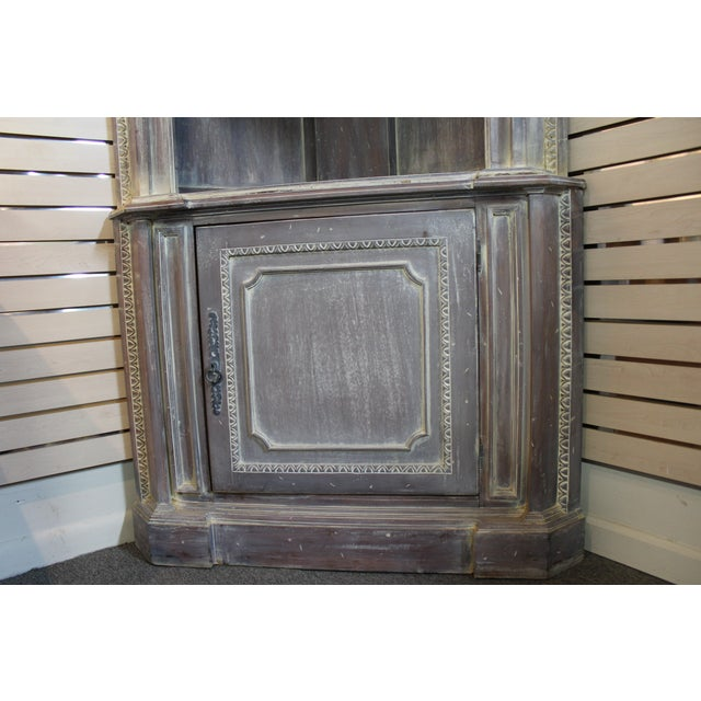Country French Distressed Corner Cabinet - Image 4 of 11