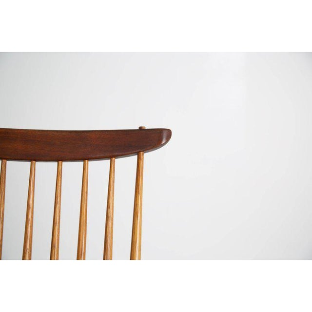 "George Nakashima ""New"" Chairs, Set of Eight, Authenticated 1960s Production For Sale - Image 10 of 13"