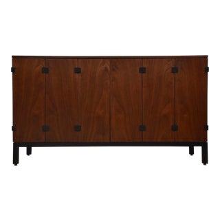 Kipp Stewart for Directional Walnut Sideboard Credenza For Sale