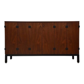 Milo Baughman for Directional Walnut Sideboard Credenza For Sale