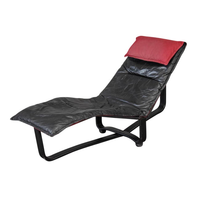 Leather Chaise Lounge by Westnofa For Sale