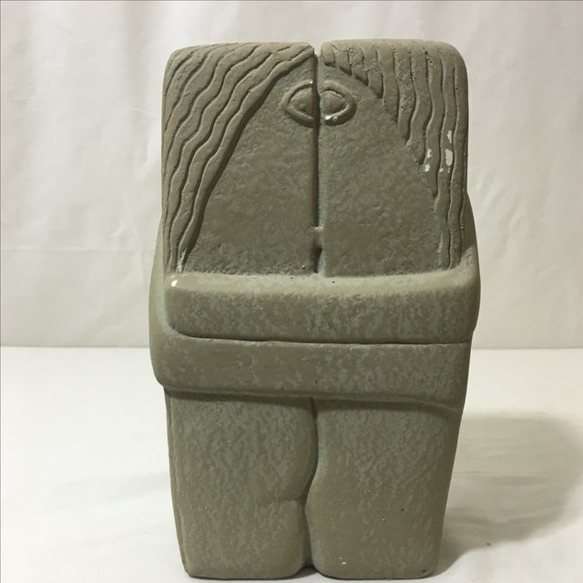 C. Brancusi The Kiss Sculpture Reproduction - Image 5 of 7