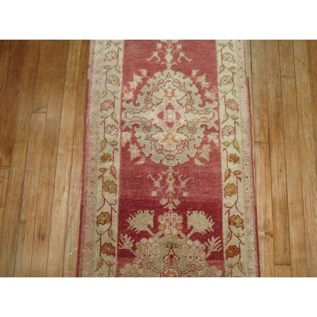 Textile Antique Turkish Sivas Runner, 2'1'' X 11'9'' For Sale - Image 7 of 8