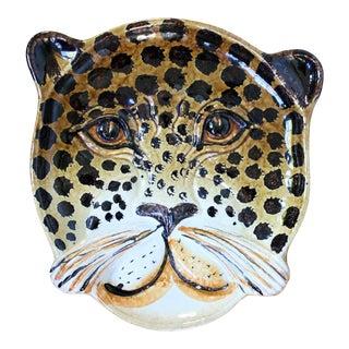 Vintage Italian Cheetah Bowl/Plate For Sale
