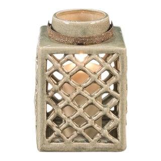 Antique Terracotta Ceramic Lantern