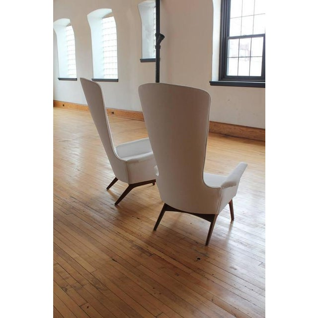 Craft Associates 1960's Vintage Adrian Pearsall Sculptural High-Back Lounge Chairs- A Pair For Sale - Image 4 of 4
