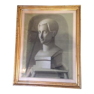 19th Century NeoClassical Charcoal Study of a Bust For Sale
