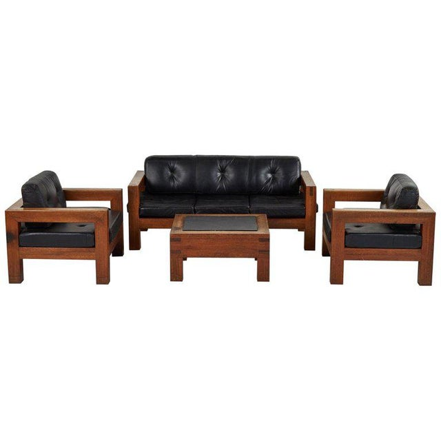 Mid-Century Modern Sofa, Chairs and Coffee Table Salon Set - 4 Pc. Set For Sale - Image 13 of 13
