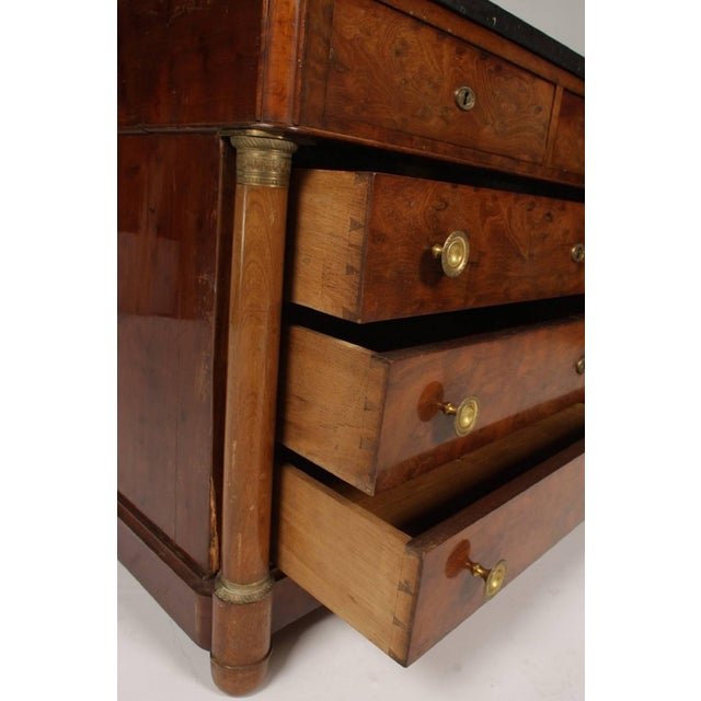 French Empire Mahogany Marble Top Commode, Circa 1870 For Sale - Image 4 of 8