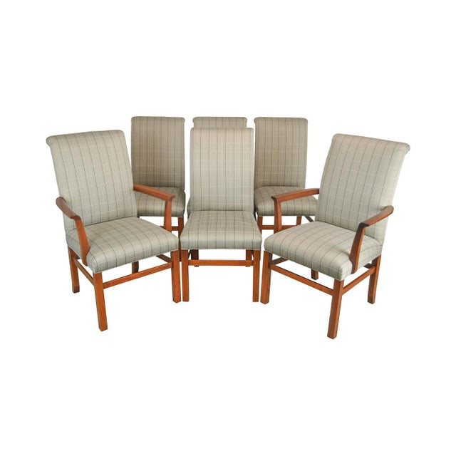 Stickley 21st Century Collection Set of 6 Cherry Upholstered Dining Chairs For Sale - Image 13 of 13