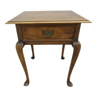 Baker Furniture Side Table With Cabriole Legs and Slipper Feet