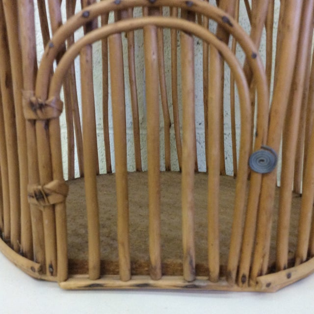 Vintage Bamboo Birdcage - Image 5 of 8