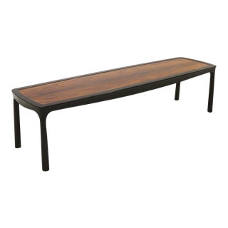 Sculptured Edge Rectangular Coffee Table by Edward Wormley for Dunbar For Sale