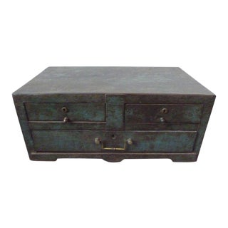 19th Century, Metal Coffer For Sale