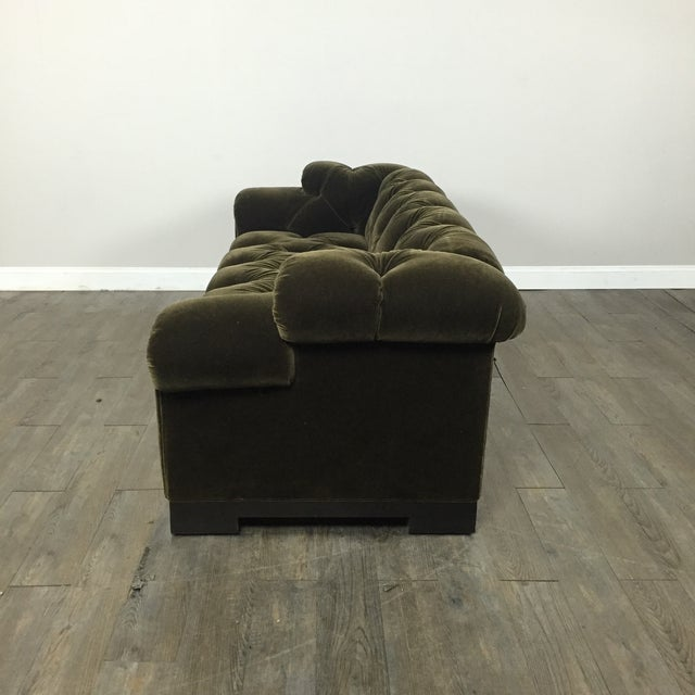 Tufted Green Mohair Sofa - Image 10 of 11