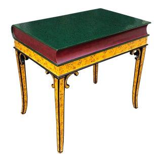 Maitland Smith Designer Book Form Side or End Table For Sale