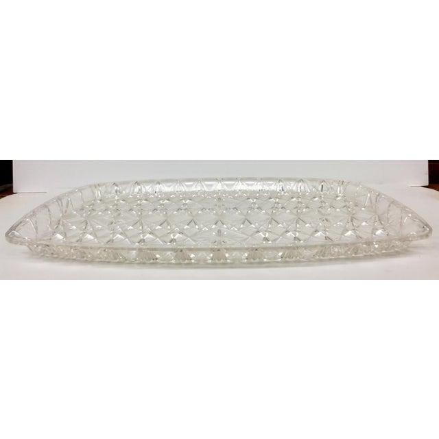 Large Vintage Clear Carved Lucite Serving Tray For Sale In Boston - Image 6 of 13
