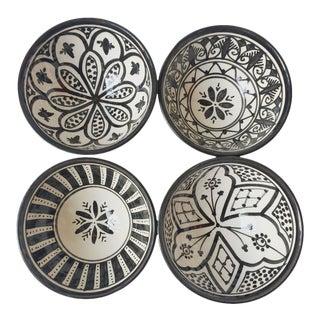 Safi Salad Bowl, Set of 4 Black For Sale