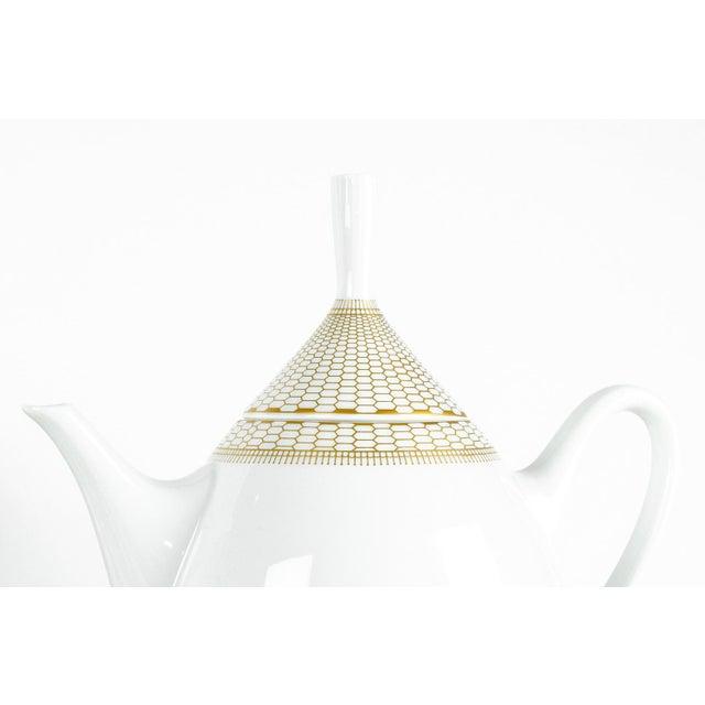 Art Deco German Porcelain Luncheon Tea & Coffee Set For Sale - Image 4 of 9