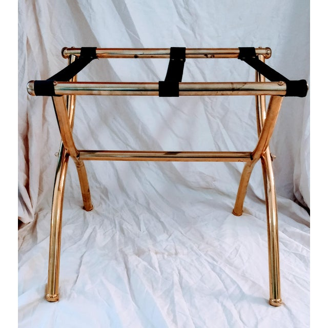 Late 20th Century Brass Luggage Rack / Valet For Sale - Image 4 of 11
