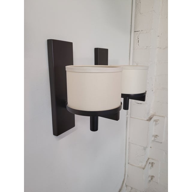 Early 21st Century Paul Marra Design Silk Drum Sconce - a Pair For Sale - Image 5 of 6