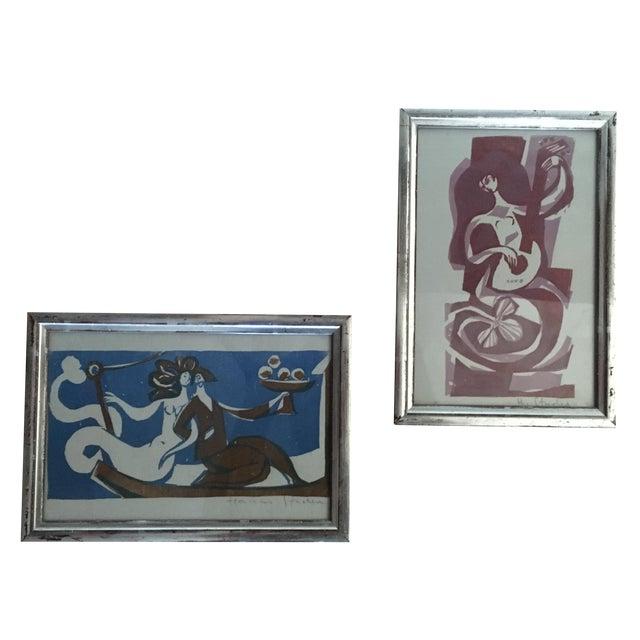 Vintage Mermaid Art - Pair - Image 1 of 7
