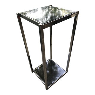 Mid-Century Modern Chrome Glass Table For Sale