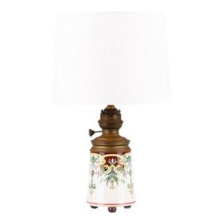 1910s Art Nouveau Ceramic Lamp For Sale