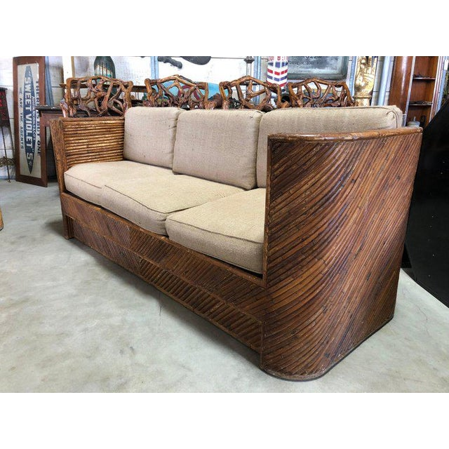 1960s Mid-Century Italian Bamboo Sofa For Sale - Image 5 of 7