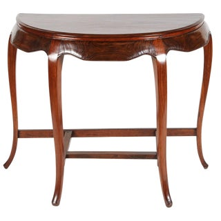 Chinese Rosewood Demilune Table For Sale