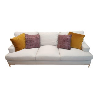 Bernhardt Carver Sofa Floor Sample and Pillows For Sale