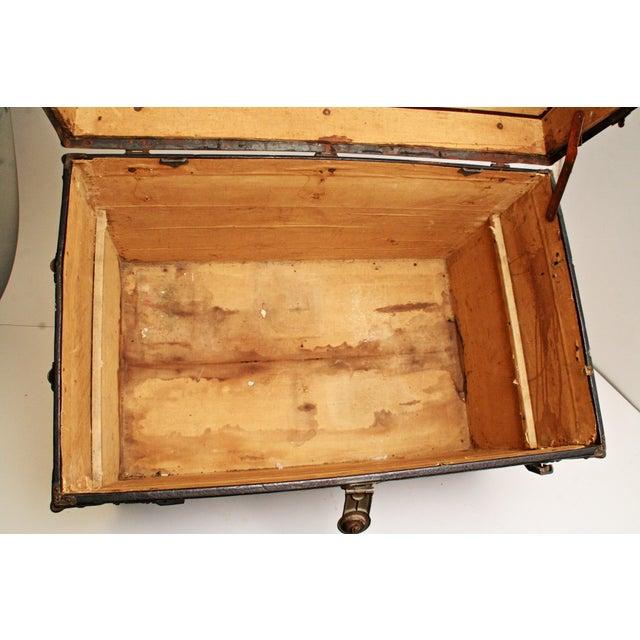 Antique Wood Steamer Trunk - Image 6 of 11