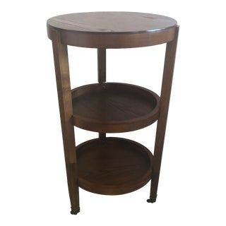 Mahogany 3 Tier Side Table End Table For Sale