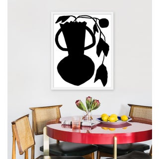 "Medium ""Unusual Vase Four White"" Print by Kate Roebuck, 24"" X 30"" Preview"
