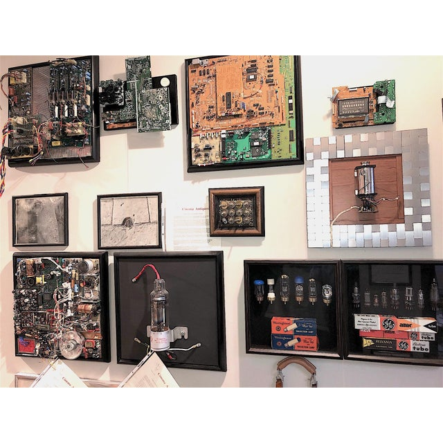 Component Art Sculpture by Bill Reiter. Uses Later Mid-20th Century Vintage Television Studio Equipment Electronic Artifacts and Components. For Sale - Image 9 of 10