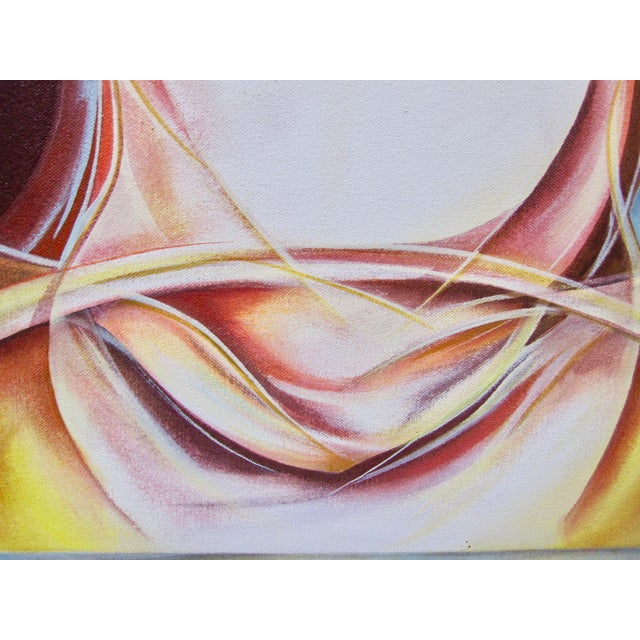 Vintage Abstract Anatomical Nudes Painting by Lynn Schuette For Sale - Image 4 of 8