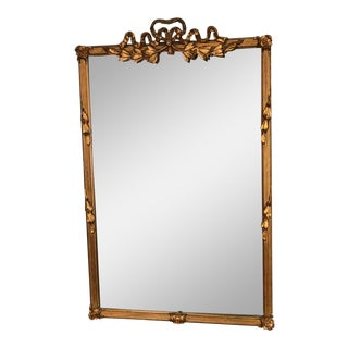 Louis XV Carvers' Guild Antique Gold Bow Mirror For Sale