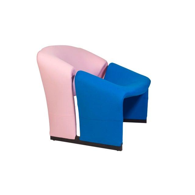 Pierre Paulin Oscar De La Renta Cashmere Upholstered Chairs & Ottomans- 4 Pieces - Image 3 of 10