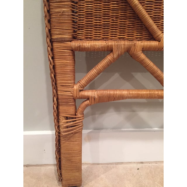 Boho Chic 1960s Boho Chic Twin Wicker Rattan Headboards - a Pair For Sale - Image 3 of 8
