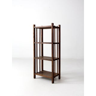 Mid-Century Wood Etagere Bookcase Preview