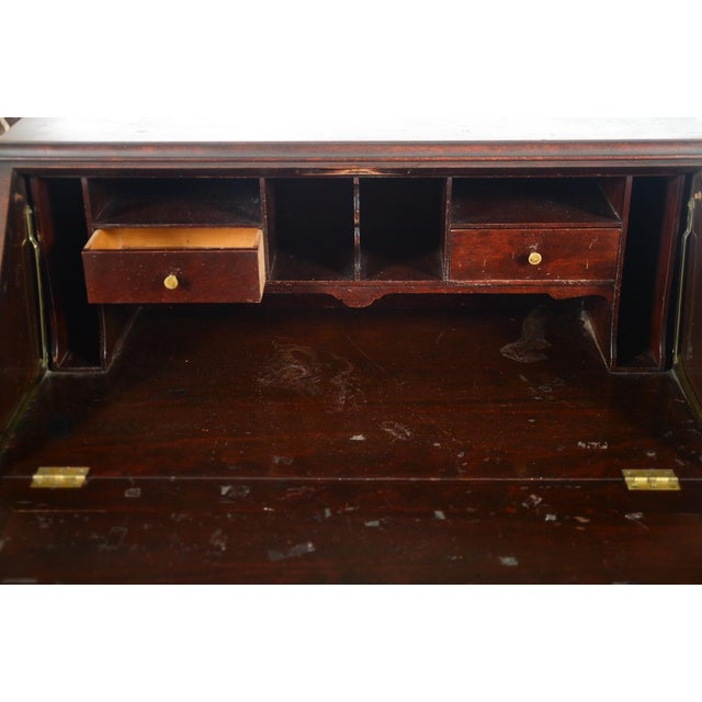 Brown R. J. Horner C.1890's Carved Mahogany Drop Desk For Sale - Image 8 of 10